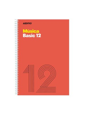Cuaderno de música Additio Basic12