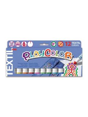 Estuche 12 témpera sólida Playcolor One Textil colores surtidos