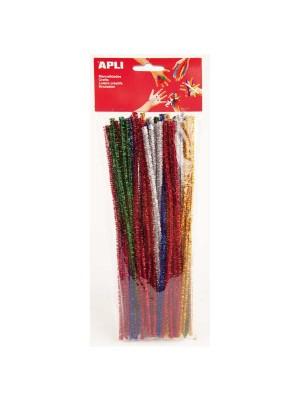 Bolsa 50 limpiapipas Apli colores brillantes surtidos