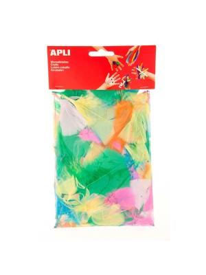 Bolsa 24 plumas Apli colores surtidos
