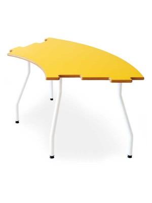 Mesa infantil semicircular Tagar 120x60x60cm amarillo