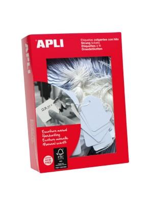 Caja 1000 etiquetas Apli colgantes 15x24mm.