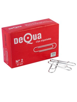 Caja 100 clips labiados redondos Dequa nº2