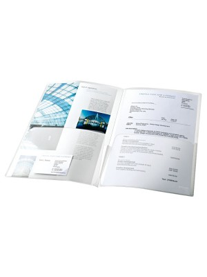 Dossier canguro-doble Esselte PP 180µ Capacidad 150h.x2 A4 Pack 5u.
