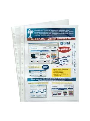 Funda Grafoplas Multitaladro PVC Cristal 80µ Folio Caja 100u.