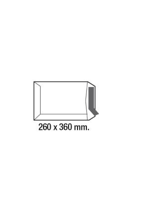 Caja 250 bolsas 90g. Folio prolongado 260x360mm. Kraft verjurado