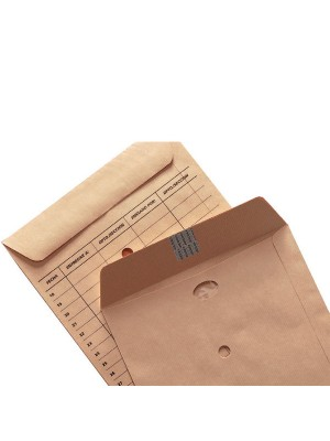 Caja 100 bolsas 120g. para correo interno  Folio prolongado260X360mm. 3 taladros Kraft verjurado Marrón