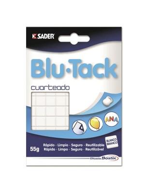 Blu-tack blanco Plico cuarteado 55gr.
