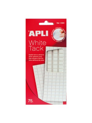 Masilla adhesiva cuarteada Apli 75g. Blanco