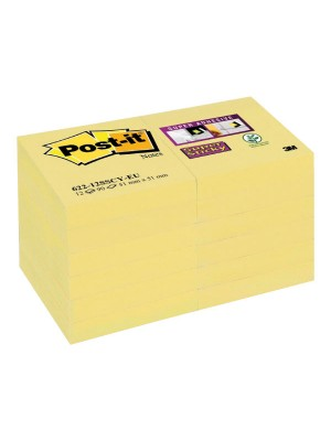 Bloc notas Post-it Super Sticky 76x127mm. Amarillo