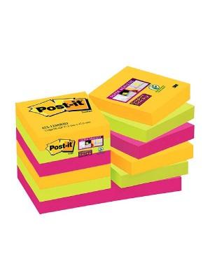 Pack 12 blocs notas Post-it Super Sticky 47,6x47,6mm. Rio de Janeiro