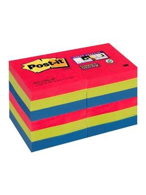 Pack 12 blocs notas Post-it Super Sticky 47,6x47,6mm. Bora Bora