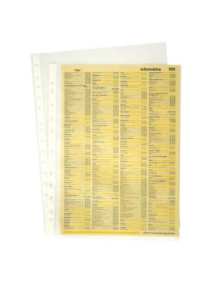 Funda Grafoplas Multitaladro PP Piel de naranja 80µ Folio Caja 100u.
