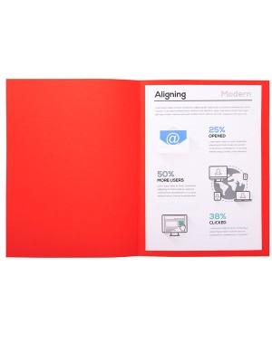Subcarpetas Forever 180 Cartulina 170g. A4 Rojo 100u.