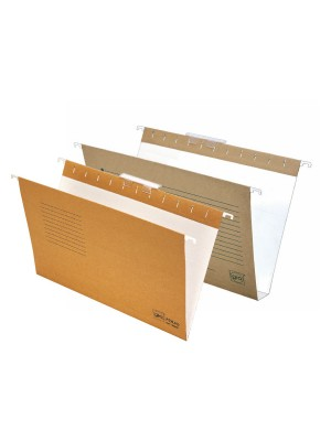 Carpetas colgantes Gio Visor superior Varilla metálica Lomo 30mm. A4 Kraft bicolor Pack 25u.