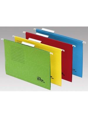 Carpetas colgantes Grafoplas Visor superior Varilla plástico Lomo 15mm. Folio Kraft bicolor Pack 25u.