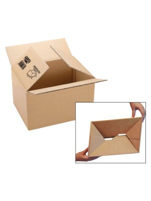 Pack 10 cajas de embalaje. Cartón canal sencillo 3mm. Automontable 427x304x250mm.