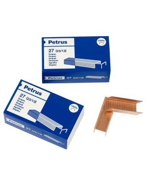 Caja 1000 grapas cobreadas Petrus 27
