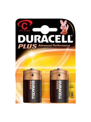 Blister  2 pilas alcalinas Duracell Plus para uso intensivo LR14 tipo C