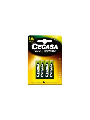 Pack 4 pilas Cegasa super alcalina AAA