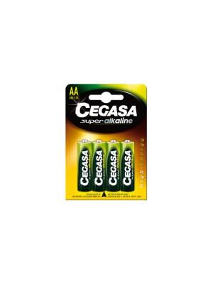 Pack 4 pilas Cegasa super alcalina AA