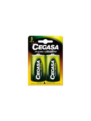 Pack 2 pilas Cegasa super alcalina LR20 tipo D