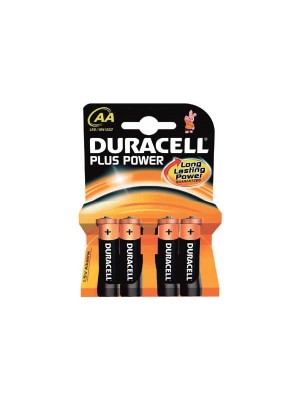 Blister 4 pilas Duracell Plus Power AA