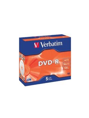 Caja slim 10 DVD-R Verbatim 16x imprimible