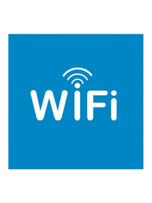 "Etiquetas adhesivas Apli ""Wifi"" 114x114mm."