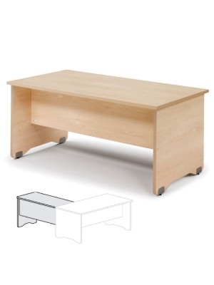 Ala para mesa rectangular Serie Work 100x60x72cm. Haya/Haya