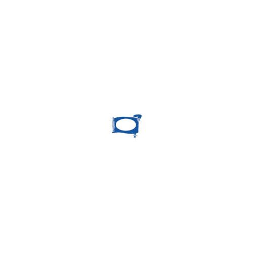 Silla operativa Korn tapizado en tela ignífuga con respaldo de malla. Mecanismo basculante. Incluye brazos. Negro