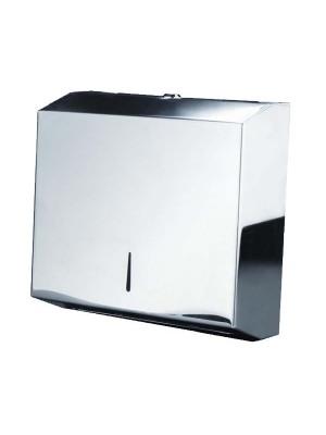 Dispensador secamanos Sie tipo zig-zag. Capacidad para 400- 600 toallas. Acero inoxidable