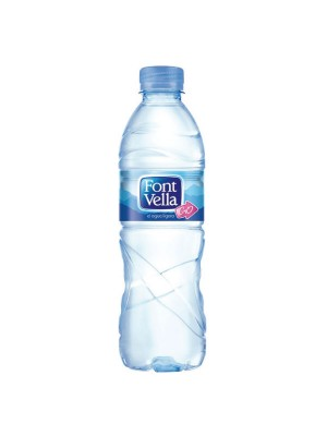 Pack 24 ud agua mineral Font Vella 500 ml