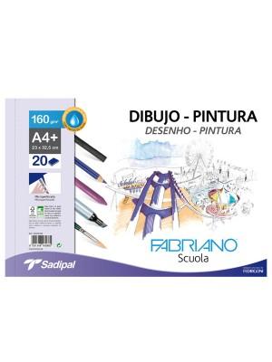 Bloc de papel de dibujo y pintura Fabriano microperforado 20h A3+