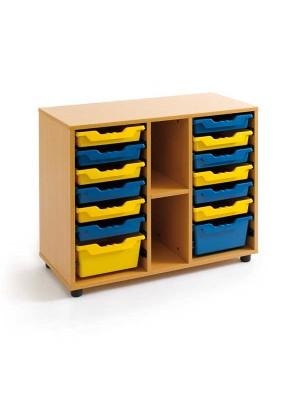 Mueble cubetero Tagar 2 huecos 90x77x40cm