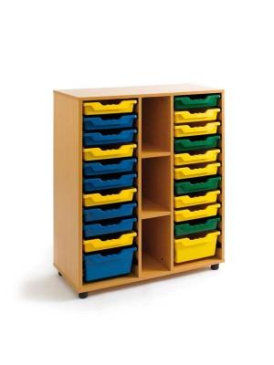 Mueble cubetero Tagar 3 huecos 90x113x40cm