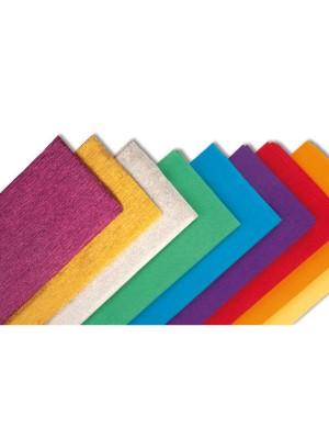 Rollo de papel crespón Sadipal 0,5 x 2,5 m. color amarillo