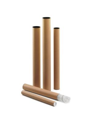 Tubo cartón con tapa plástico Faibo 46x ø6cm.