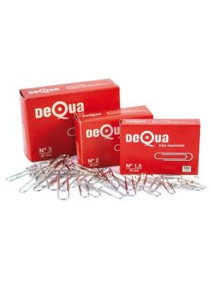 Caja 100 clips labiados redondos Dequa nº1,5