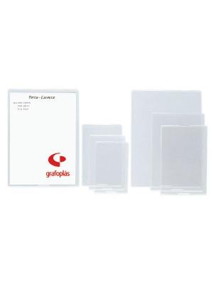 Portacarnets uñero Grafoplas PVC 150µ Folio Caja 75u.