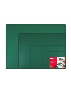 Tabla de corte 450x300x2mm. PVC (A3) Verde