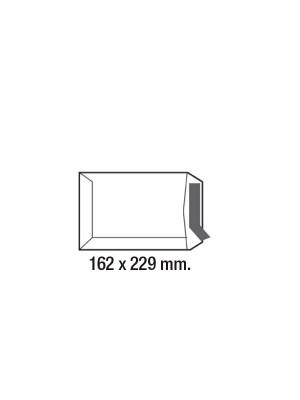 Caja 250 bolsas 80g. C5 162x229mm. Kraft verjurado Marrón