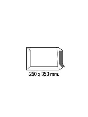 Caja 250 bolsas 90g. Folio/B4 250x353mm. Kraft verjurado