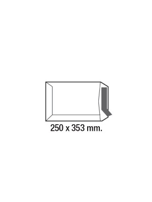 Caja 250 bolsas 100g. Folio/B4 250x353mm. Offset Blanco
