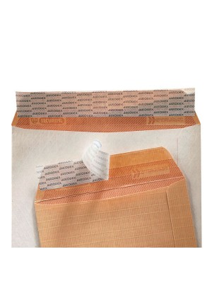 Caja 100 bolsas 120g. Folio prolongado 260x360mm. Kraft armado Marrón