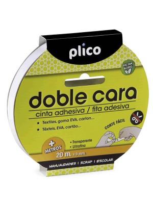 Cinta adhesiva doble cara Plico 9mmx20m