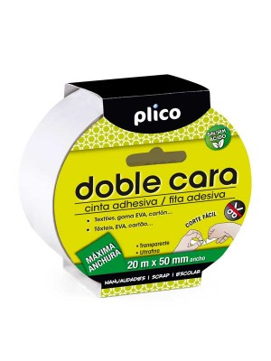 Cinta adhesiva doble cara Plico 50mmx20m
