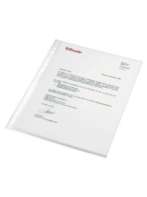 Funda Esselte Multitaladro PP Cristal 80µ Lomo reforzado Folio Caja 100u.