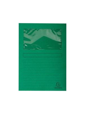 Subcarpetas Forever Cartulina 120g. Con ventana A4 Verde claro Pack 25u.