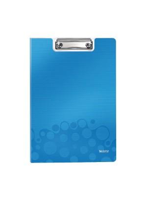 Carpeta miniclip WOW. A4 Azul Metalizado